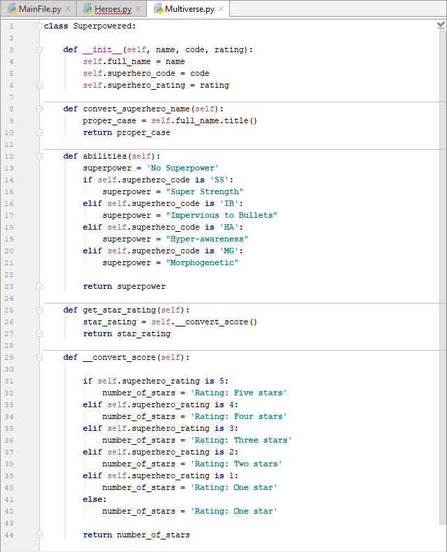 Creating a parent class for our Python project