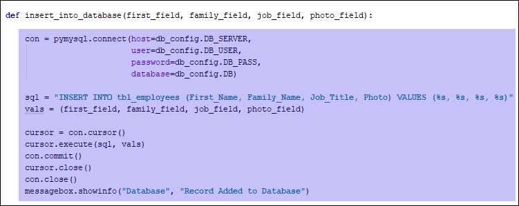 Some highlighted Python code