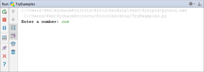 Python output window asking for input