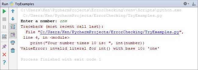 A value error in Python