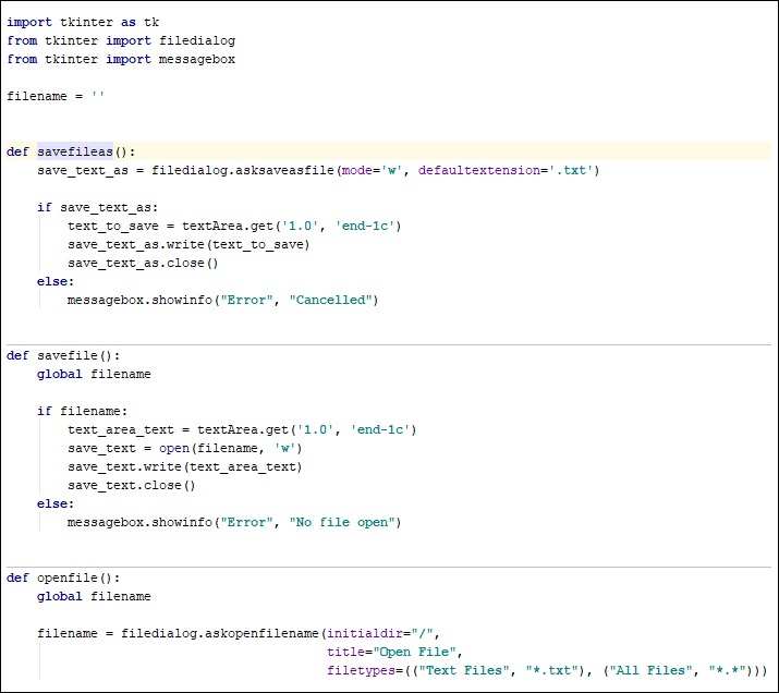 Python function to save a text file