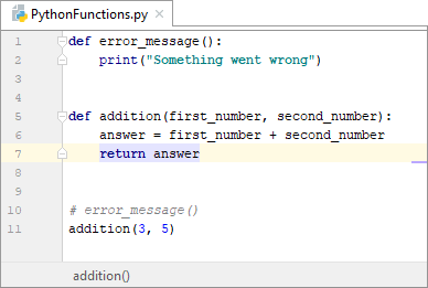 Adding a return value to a Python function