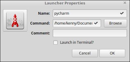 Launcher Properties with an app configured