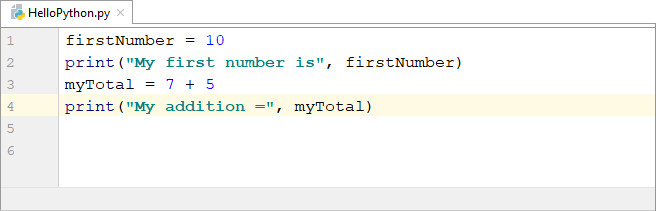 Python code printing out two variables